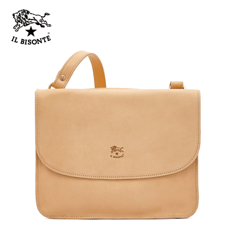 Il Bisonte Woman's Crossbody Bag Salina In Cowhide Leather A2903..EP.120 - Natural