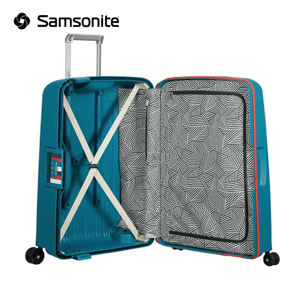 Samsonite - S'Cure Spinner Suitcase 75 cm 102 liters - Aqua Blue
