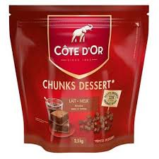 Côte d'Or Chunks Dessert Dark Chocolate - 2.5 kg