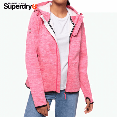Superdry - Prism SD-Windtrekker Women Jacket Size L - Berry Slub / Ecru