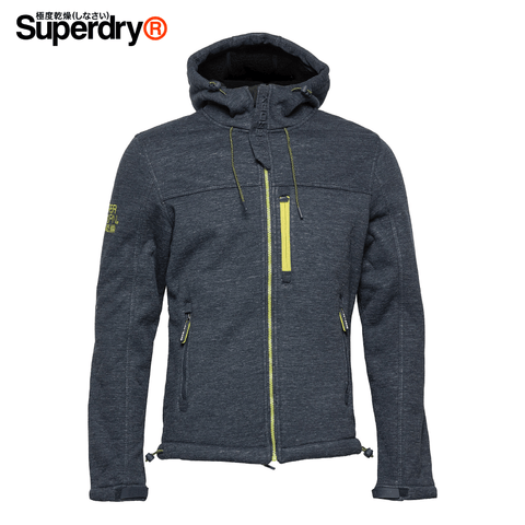 Superdry - Hooded Winter Windtrekker Men's Jacket Size L - Dark Navy / Black (M50002WR)