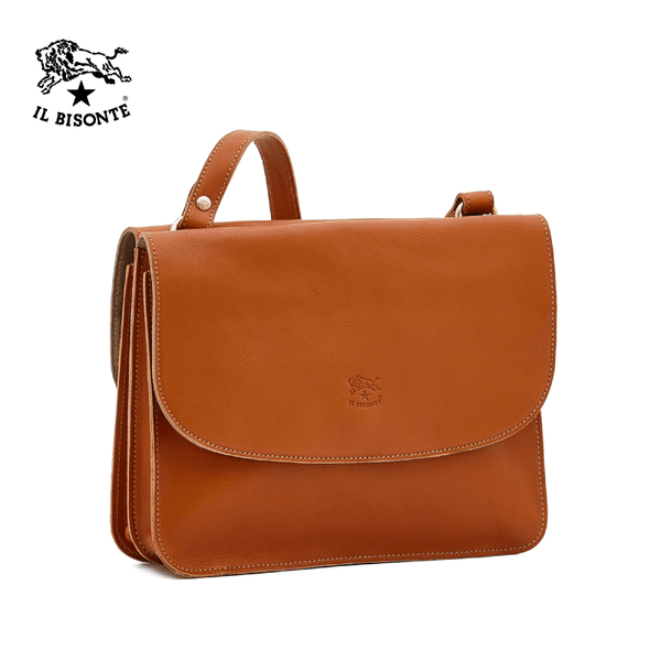 Il Bisonte Woman's Crossbody Bag Salina In Cowhide Leather A2903..EP145 - Caramel