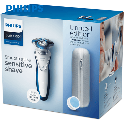Philips - S7520/69 Series 7000 Men's Electric 3 Heads Shaver / Beard Trimmer / Facial Cleansing Brush - Limited Edition