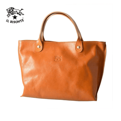 Il Bisonte - Woman's Handbag In Cowhide Leather A2307.P.145 - Caramel