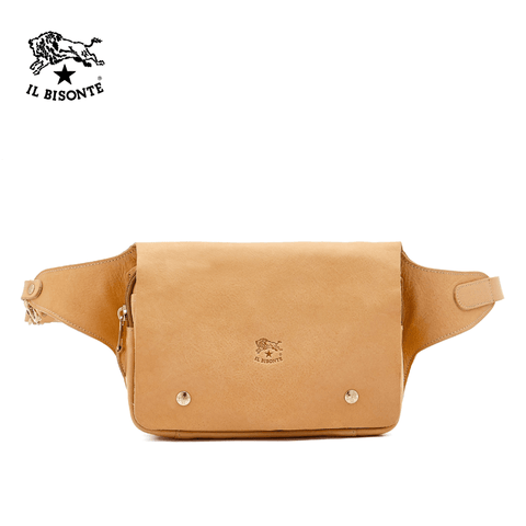 Il Bisonte - Man's Belg Bag In Cowhide Leather - Natural (A2381.P)