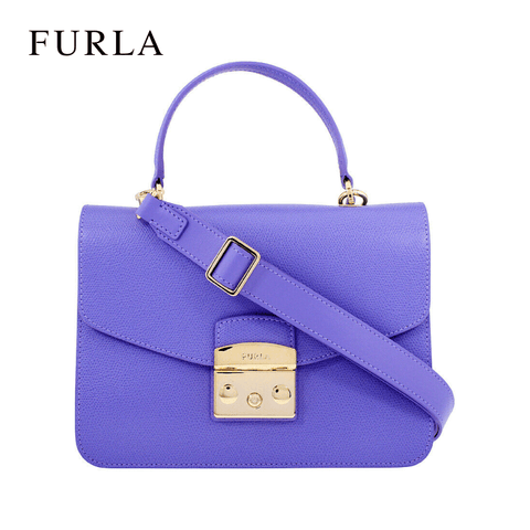 Furla - Metropolis Woman's Small Leather Top Handle / Shoulder Bag - Purple Lavanda (978122)