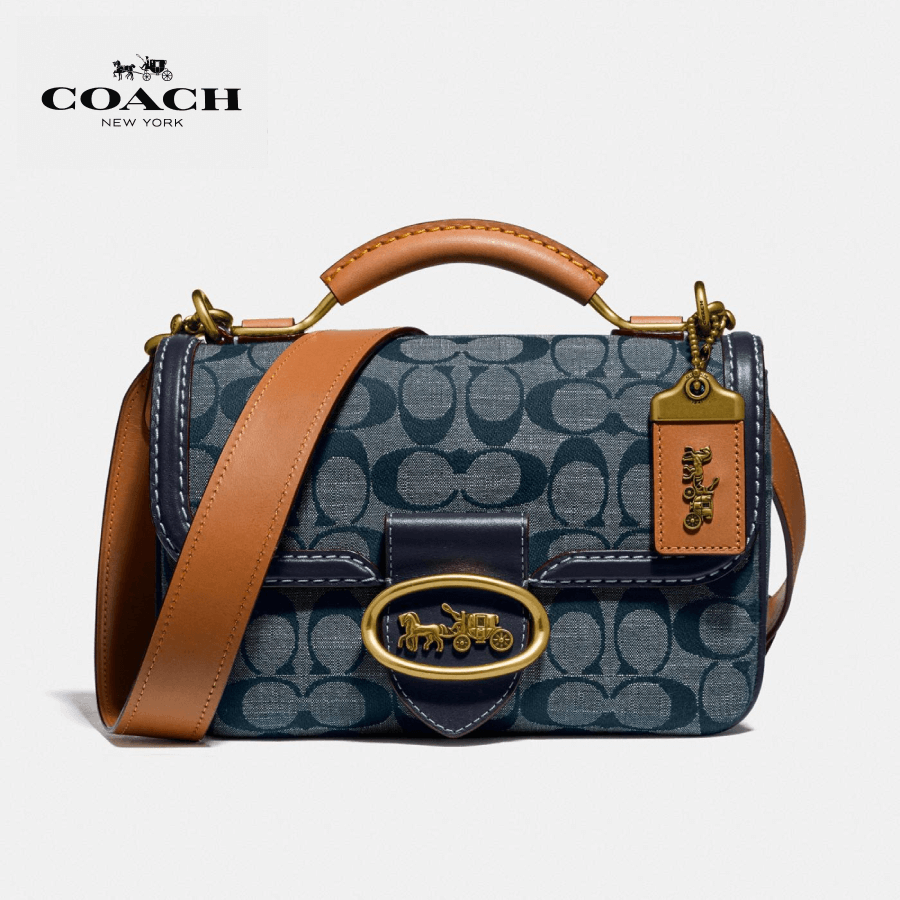 Coach - Riley Top Handle 22 In Signature Chambray