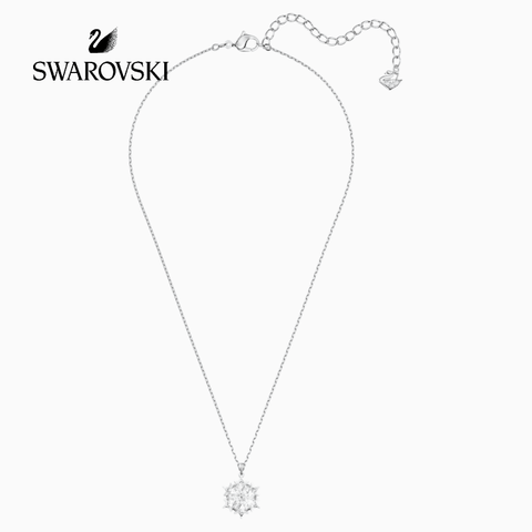 SWAROVSKI MAGIC PENDANT, WHITE, RHODIUM PLATED