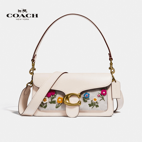 Coach - Tabby Shoulder Bag 26 In Signature Canvas With Floral Embroidery