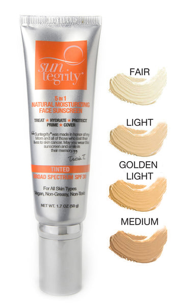 """5 In 1"" Natural Moisturizing Face Sunscreen - Tinted , Broad Spectrum SPF 30"