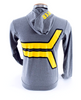 K Logo Lightweight Hoody - Yellow/Black on Heather Gray
