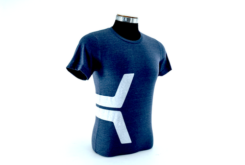 Women's Racerback K Tank - blue on navy