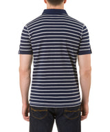 Report Collection Polo with Nep yarn Stripe in Navy