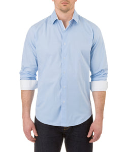 Report Collection Ls Stretch Dress Shirt in Light Blue
