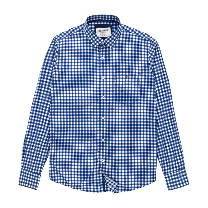 Heritage Long Sleeve Plaid Shirt in Navy