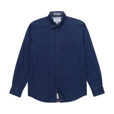 Heritage Long Sleeve Weft Stripe Sport Shirt in Indigo