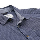 Heritage Long Sleeve Dobby Textured Sport Shirt in Blue