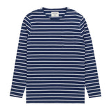 Heritage Long Sleeve Stripe T Shirt in Navy