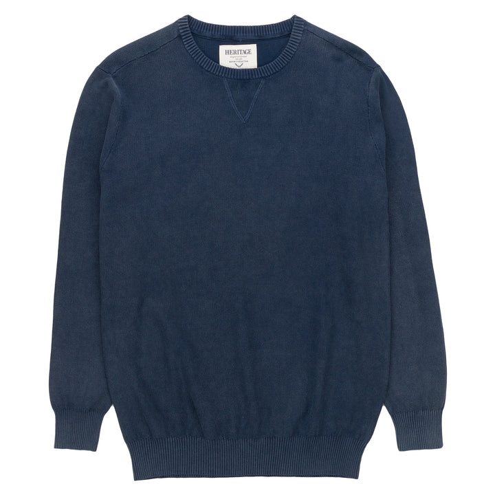 Heritage Long Sleeve Popcorn Knit Top in Navy