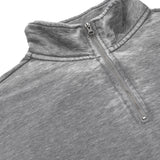 Heritage Long Sleeve 1 4 Zip Burn Out Top in Charcoal