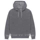 Heritage Long Sleeve Burn Out Hoody in Charcoal