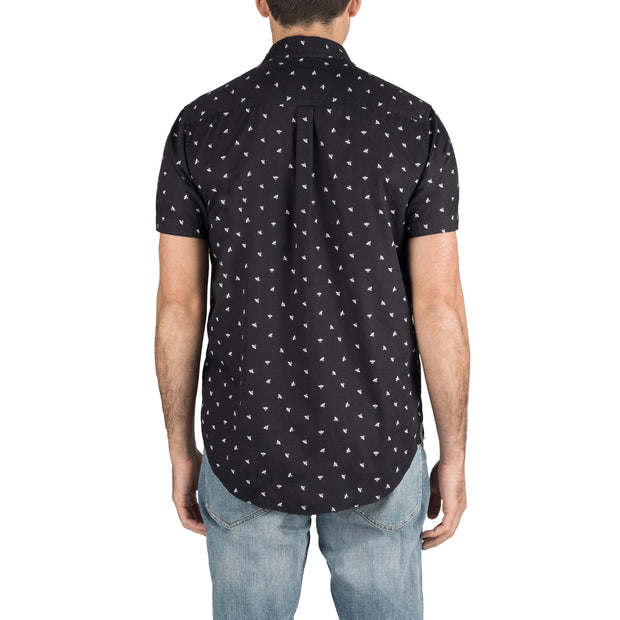 Report Collection Short Sleeve Bee Print Sport Shirt
