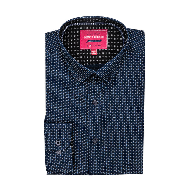 Report Collection L/S Micro Geo Sport Shirt