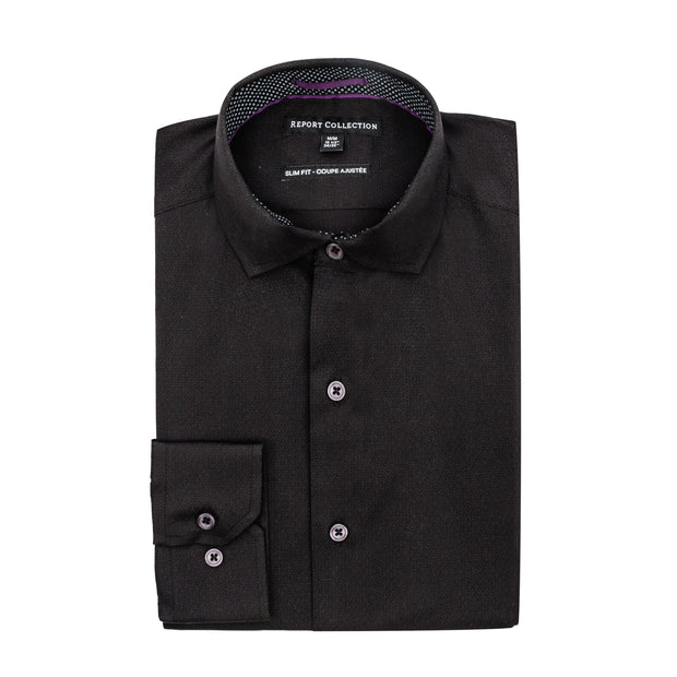 Report Collection L/S Stretch Poplin Solid Dress Shirt