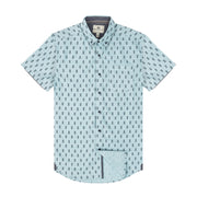 Report Collection S/S Seafoam Ground Pineapple Print Sport Shirt