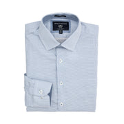 Report Collection Long Sleeve Diamond Print Stretch Dress Shirt