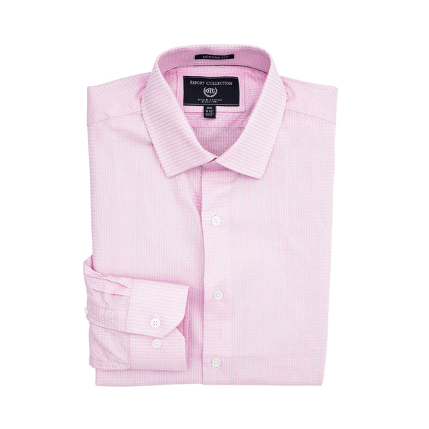Report Collection Long Sleeve Dobby Stretch Dress Shirt