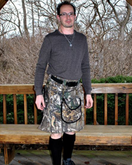 Wayne Beattie - Custom RealTree Tactical Camo Kilt