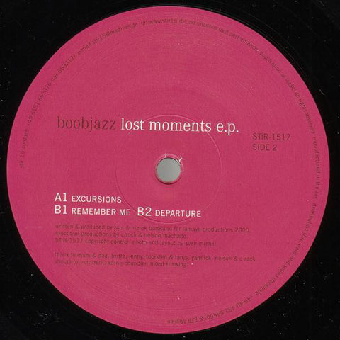 Boobjazz | Lost Moments E.P.