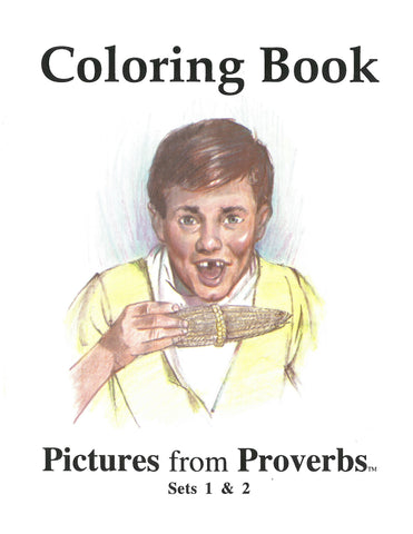 Pictures From Proverbs Coloring
