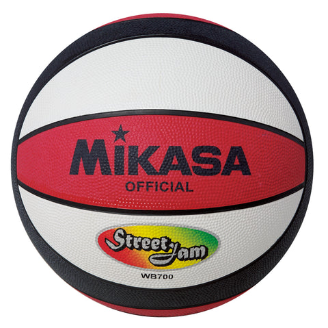 "MIKASA WB700 ""STREET JAM""  BASKETBALL Red/White/Black - Soka Diski"