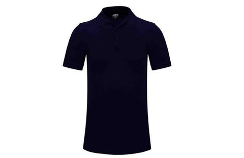 Plain Golf Shirt Adult Navy Blue - Soka Diski
