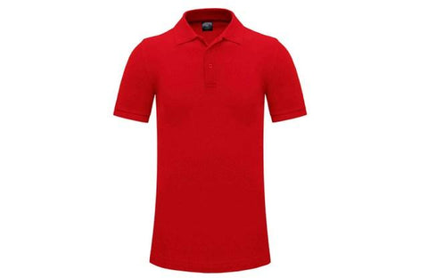 Plain Golf Shirt Adult Red - Soka Diski