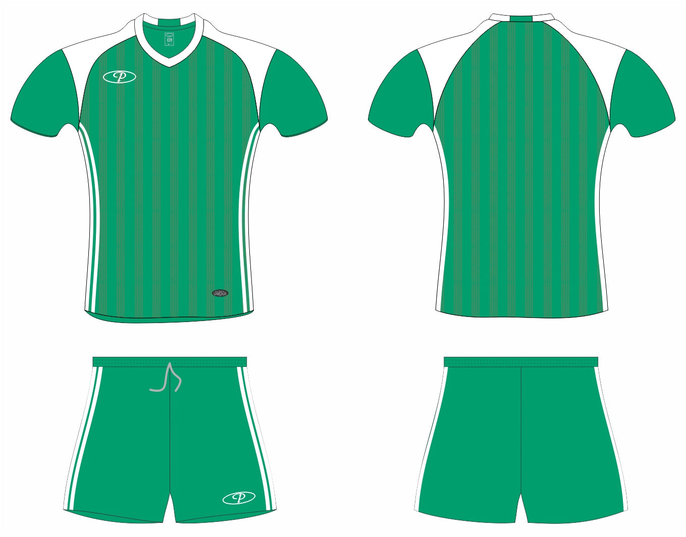 6293f3a8cd0 Bulk   Full Kits - Premier Madrid Soccer Kit Senior - Emerald Green ...