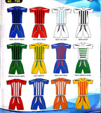 Unbranded Striped Soccer Kit Youth - Soka Diski