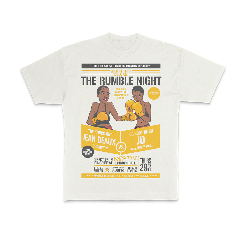 Jean Deaux - Rumble Night Natural Tee