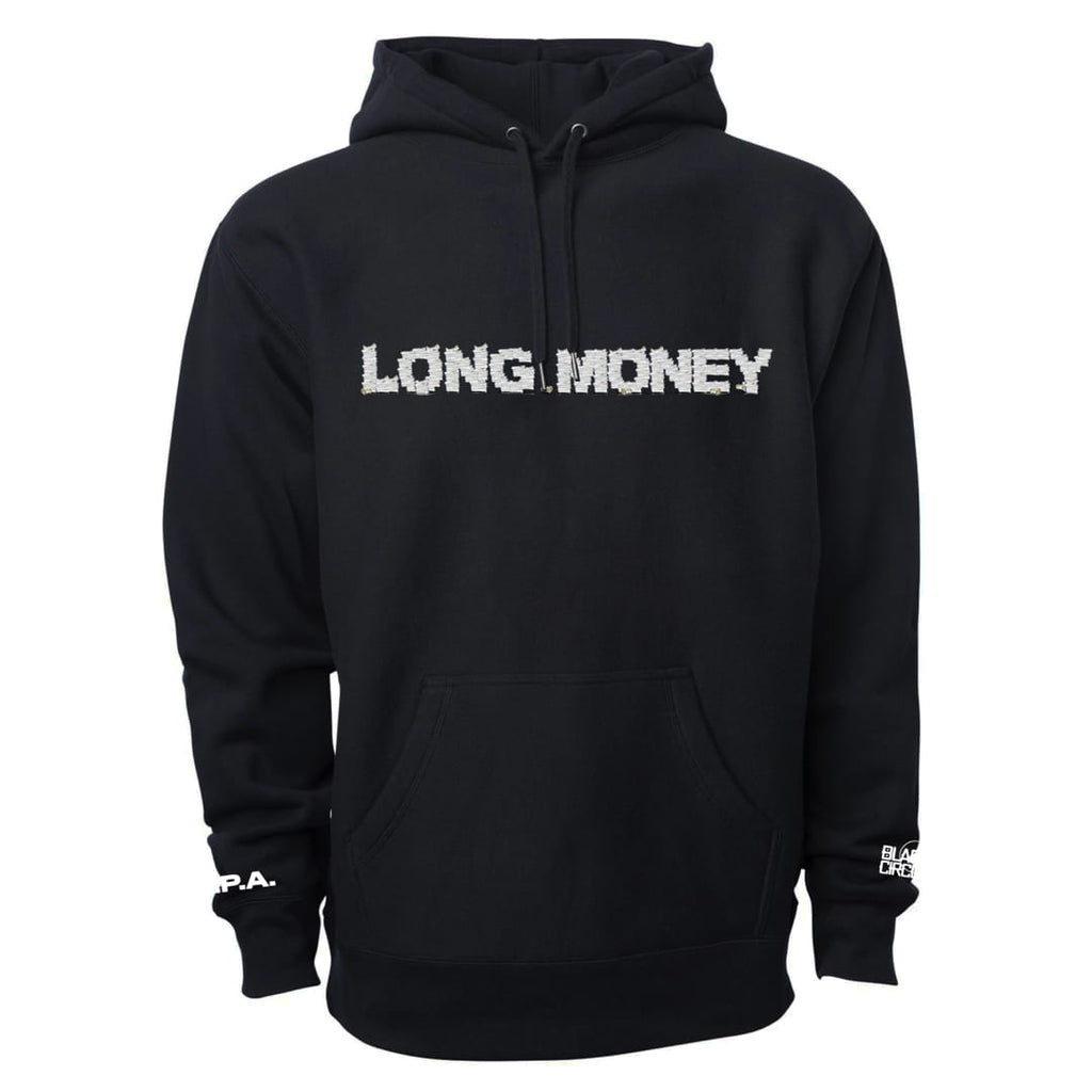 Long Money Logo Black Hoodie