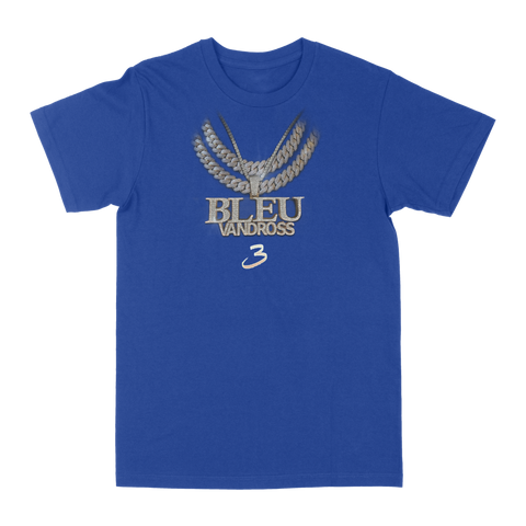 Yung Bleu - Bleu Vandross Royal Blue T-Shirt + Digital Download