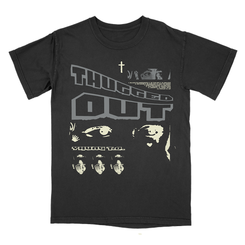 Yhung T.O. - Thugged Out Cross Black T-Shirt
