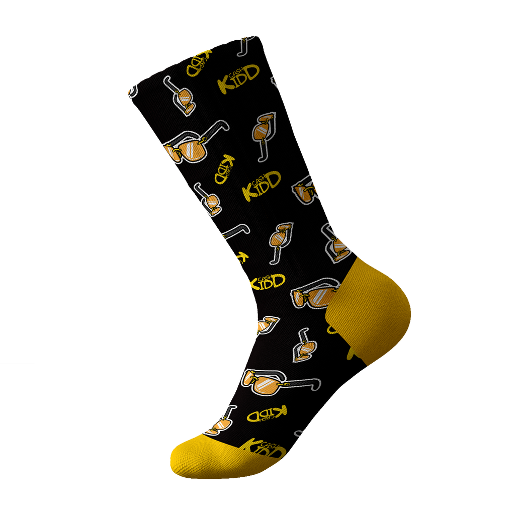 Cash Kidd - Black Sunglasses Socks