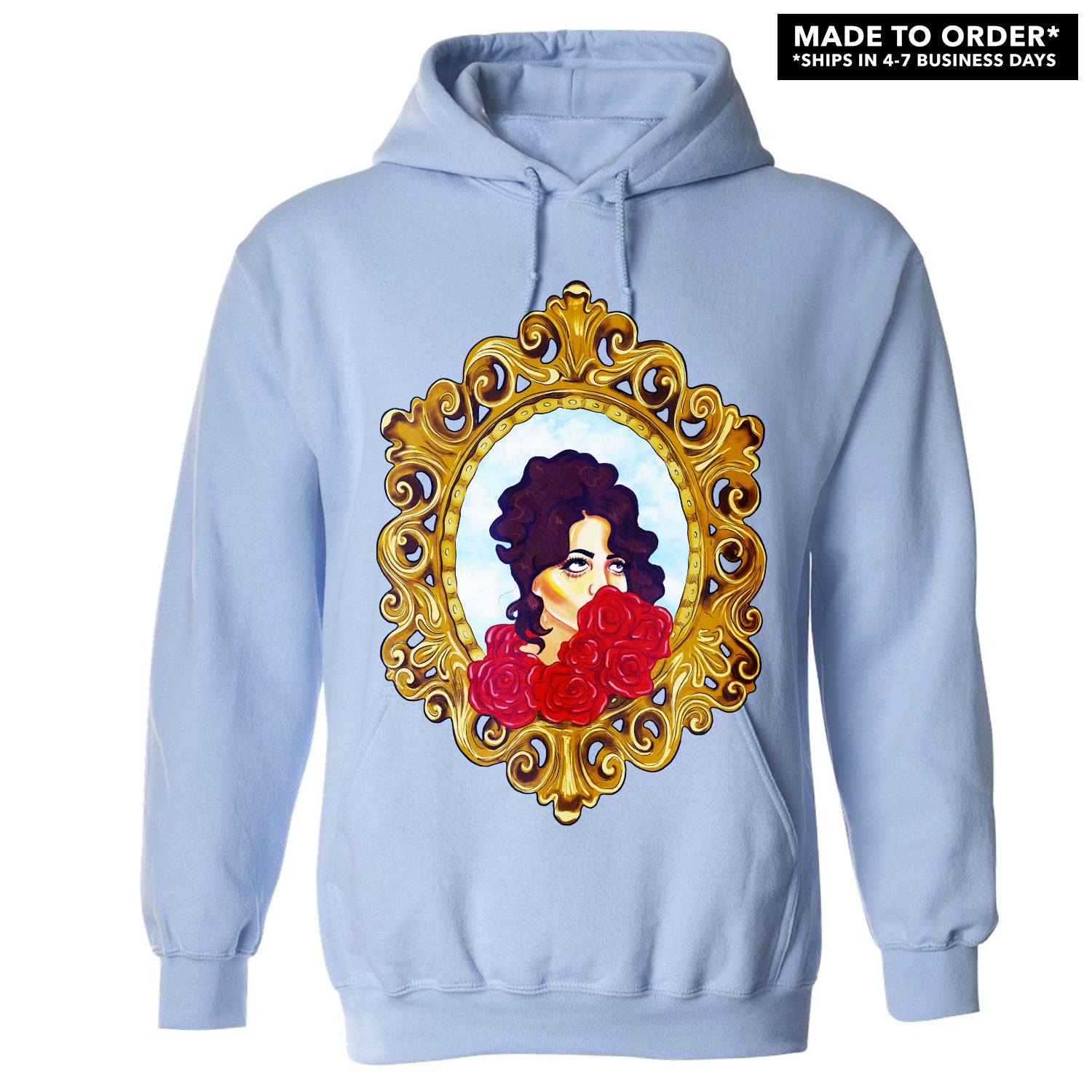 Dounia Intro To Hoodie Baby Blue Empire