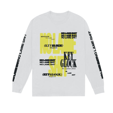 Key Glock - No Lame Shit - White Long Sleeve