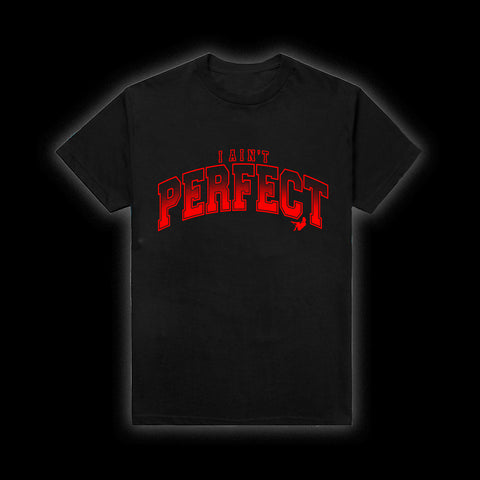 MOZZY - I Ain't Perfect Black Tee