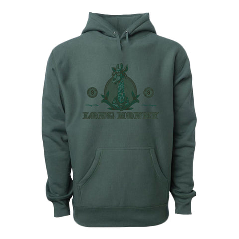 Long Money- Dark Green Hoodie