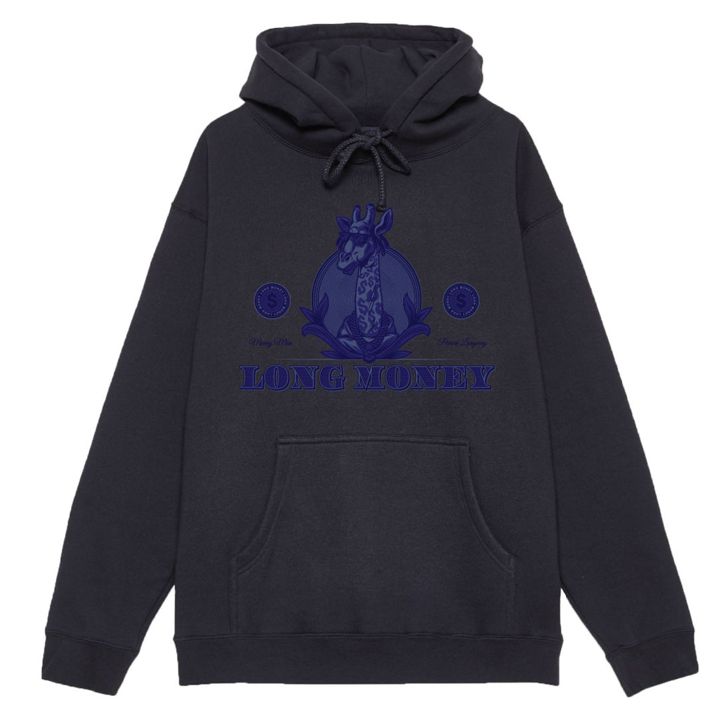 Long Money- Navy Hoodie