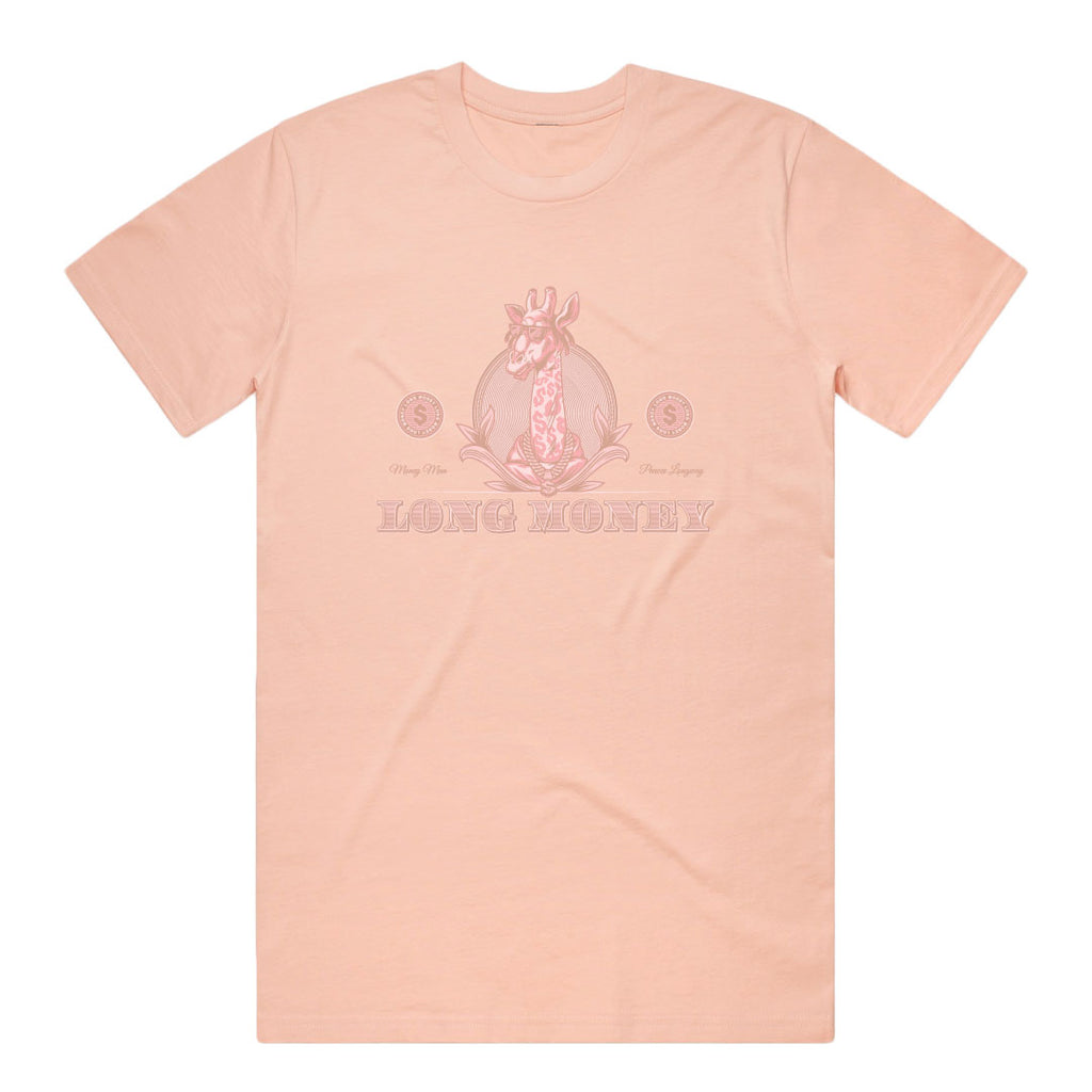 Long Money- Dusted Pink Tee